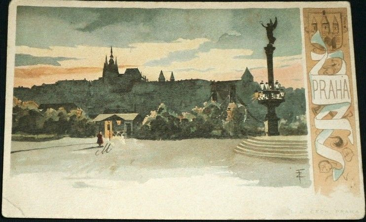 Praha pohled na Hradčany - umělecká