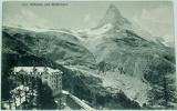 Alpy: hotel Riffelalp und Matterhorn