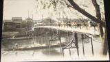 Japonsko Osaka: Korai-bashi, cca 1900, most, čluny na řece