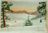 Vánoční přání: zimní krajina