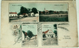 Čibuz 1921: partie u nádržky, řeznictví F. Černýho, obchod J. Podlipnýho