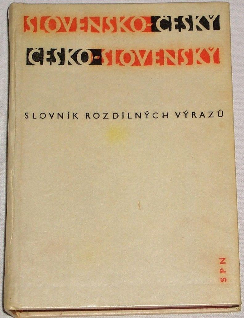Nečas, Kopecký - Slovensko-český, česko-slovenský slovník rozdílných výrazů