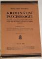 Šejnoha Josef - Kriminální psychologie