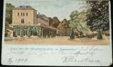 Praha Bubenč Hauptrestauration im Baumgarten 1903