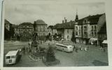 Duchcov náměstí s autobusy