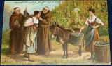 Mniši a sběračky vína 1904