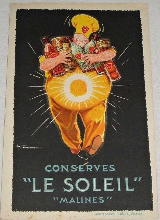 "reklamní pohlednice Conserves ""LE SOLEIL"" Malines"
