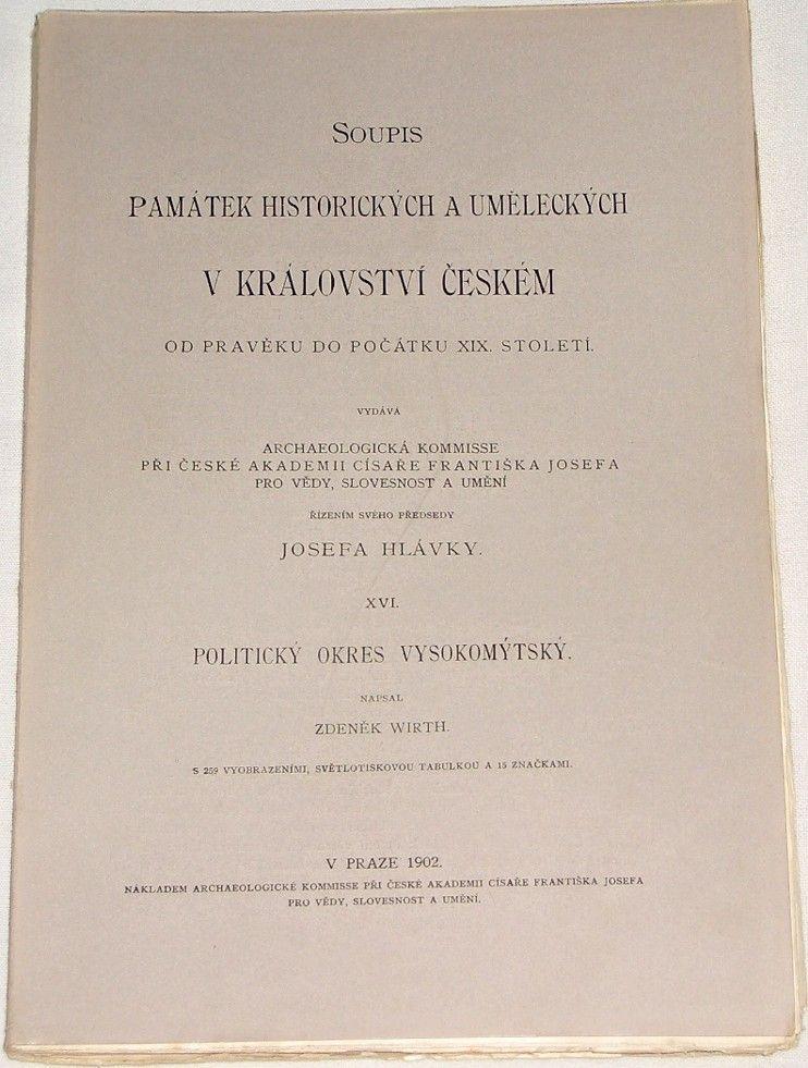 Soupis památek historických a uměleckých v Království českém
