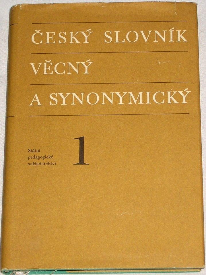Český slovník věcný a synonymický 1