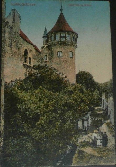 Teplice: Teplitz Schönau Schlossberg Ruine
