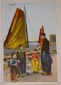 Holandsko:  Volendam  dobový život (cca 1910)
