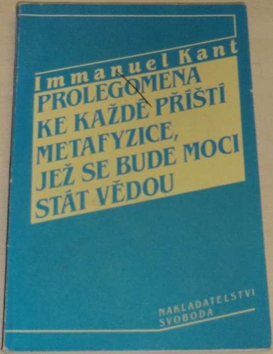 Kant I. - Prolegomena