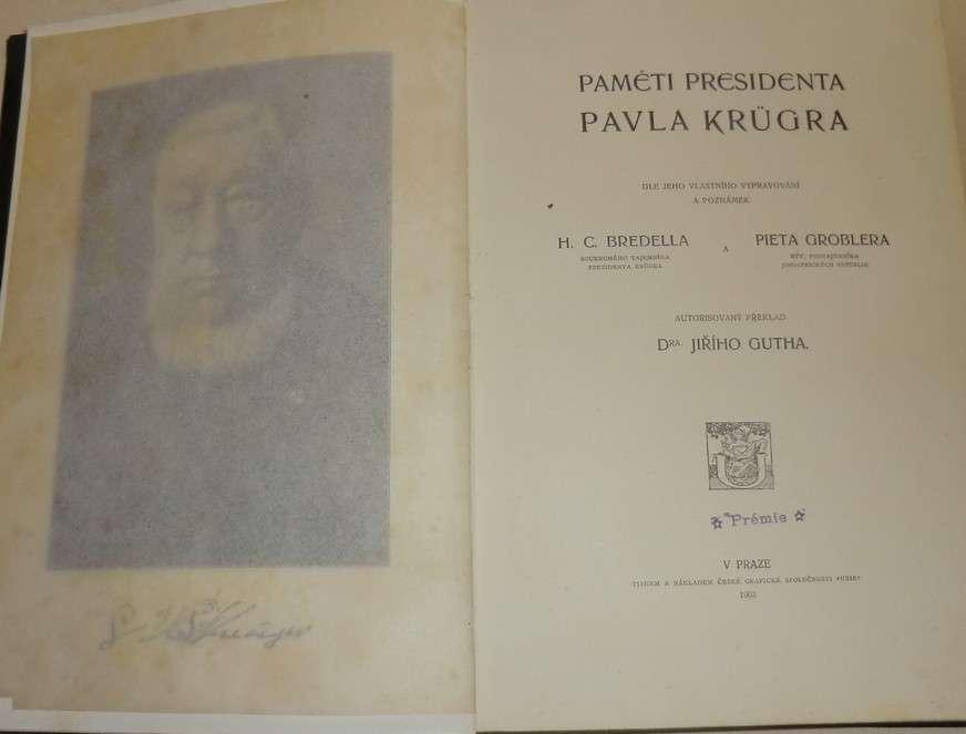 Bredella, Groblera - Paměti presidenta Pavla Krügra