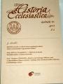Historia Ecclesiastica ročník IV.  2013 č. 1