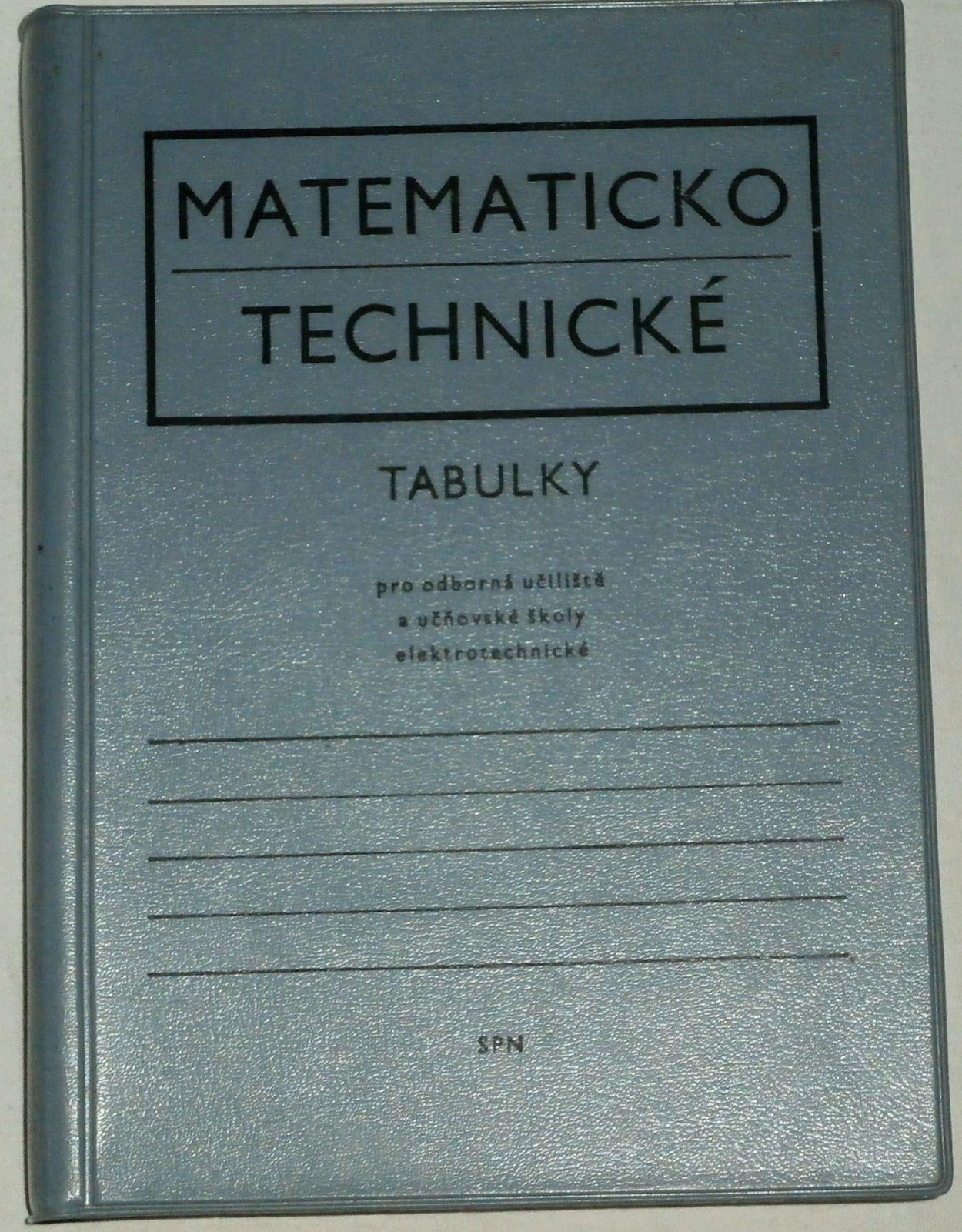 Matematickotechnické tabulky pro odborná učiliště a učňovské školy elektrotechnické