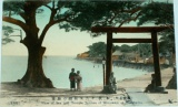 Japonsko Yokohama - View of Sea and Temple Juniten of Honmoku cca 1910
