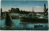 Německo Hamburg - přístav, lodě cca 1920