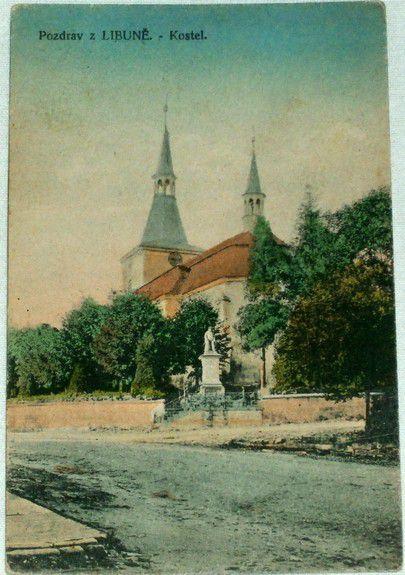 Pozdrav z Libuně - kostel