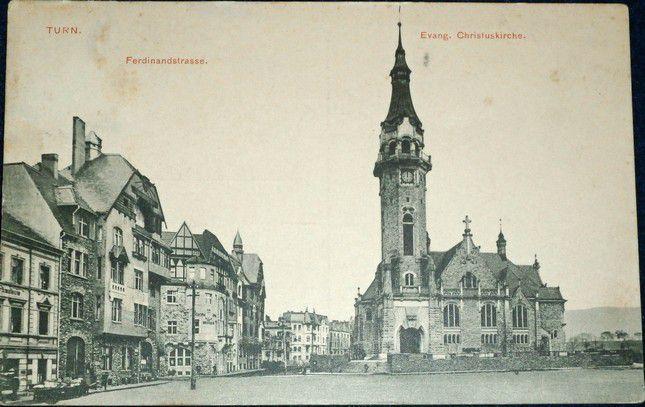 Trnovany - Turn Evang. Christuskirche, Ferdinadstrasse 1911