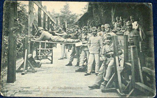 Vojenský výcvik 1914 Theresienstadt (Terezín)