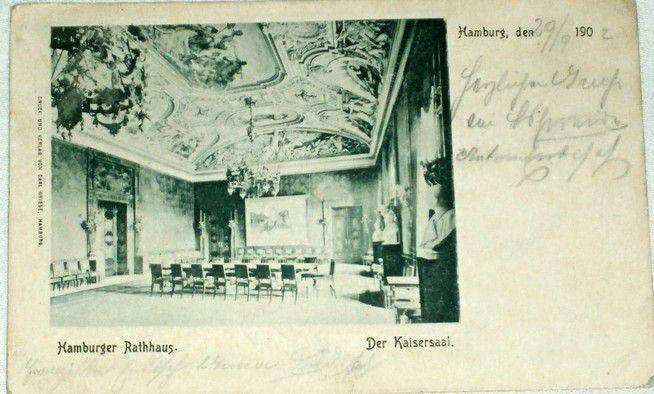 Německo Hamburg - Hamburger Rathaus, Der Kaisersaal