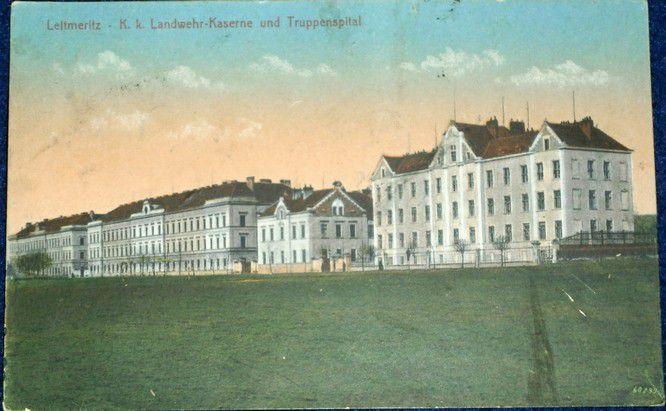 Litoměřice - Leitmeritz K.k. Landwehr-Kaserne 1913