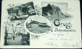 Ústí Střekov - Gruss aus Schreckenstein 1899