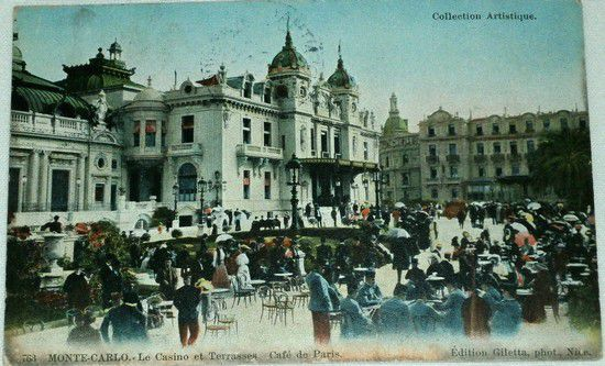 Francie - Monte Carlo Le Casino Café de Paris 1905
