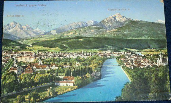 Rakousko - Innsbruck gegen Süden 1934